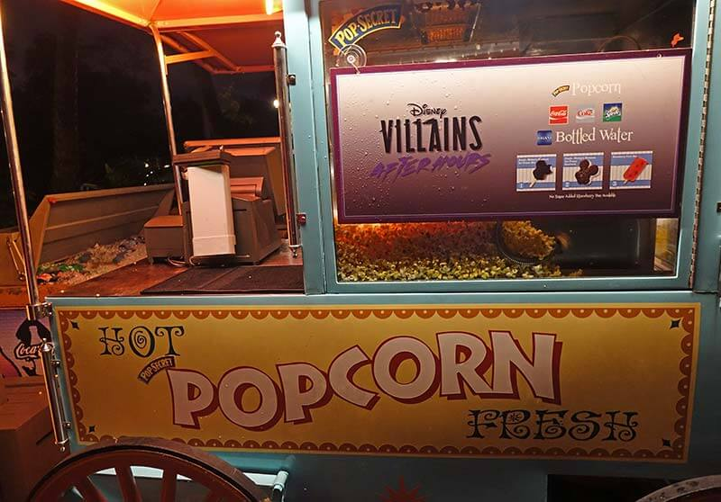 Villains After Hours - Popcorn Cart