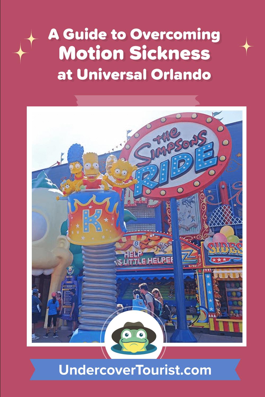 Overcoming Motion Sickness at Universal Orlando - Pinterest