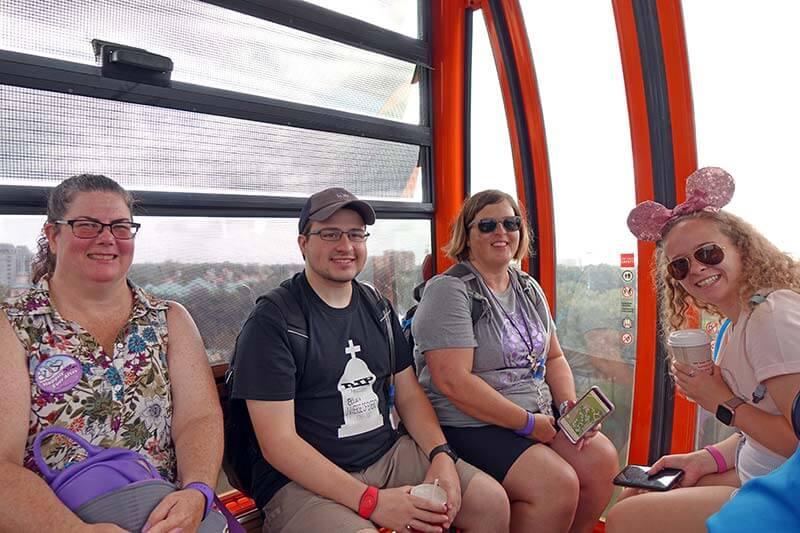 Disney Skyliner - Guests in a Gondola