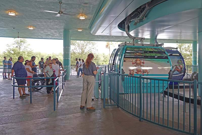 Disney Skyliner - Separate Wheelchair Queue at Hollywood Studios Station
