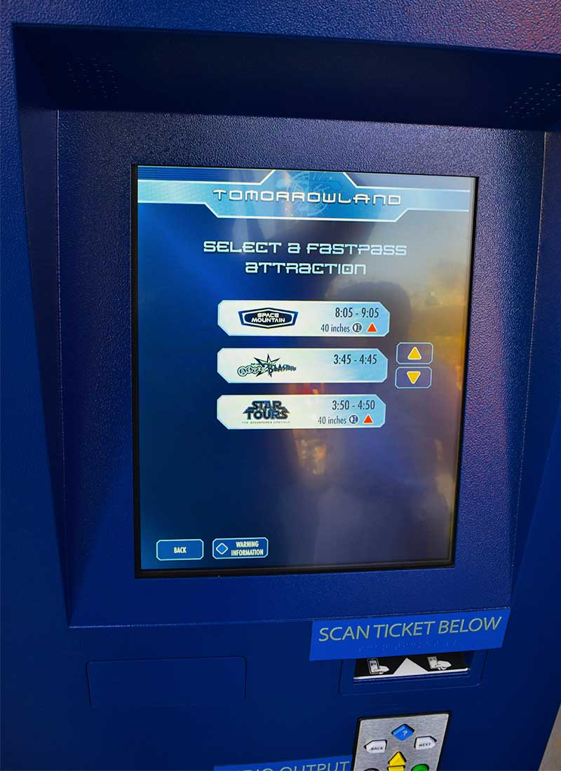 Guide to the Disneyland FASTPASS Service - Choices