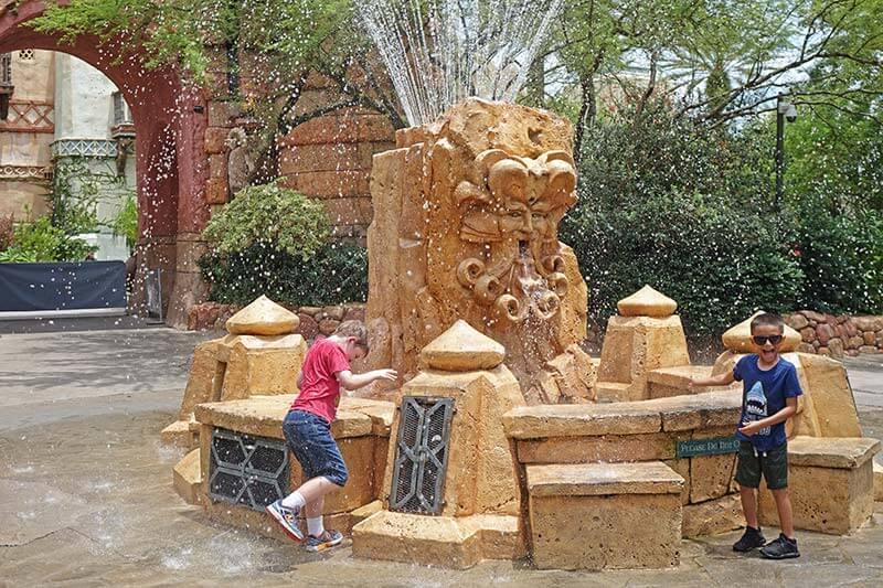 Celebrating a Birthday at Universal - Mystic Fountain