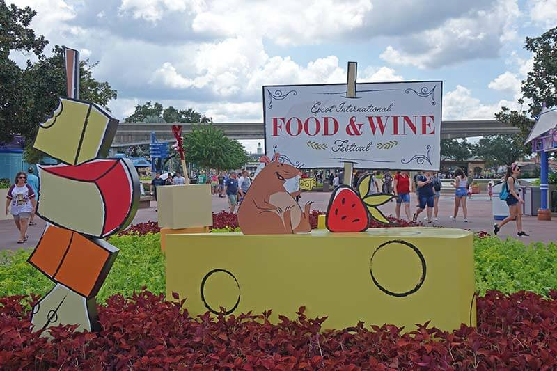 Epcot Food and Wine Festival - Welcome Signage