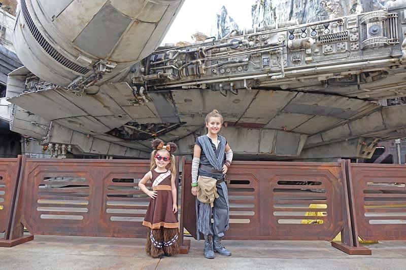 Star Wars: Galaxy's Edge at Disney World - Kids in Costumes