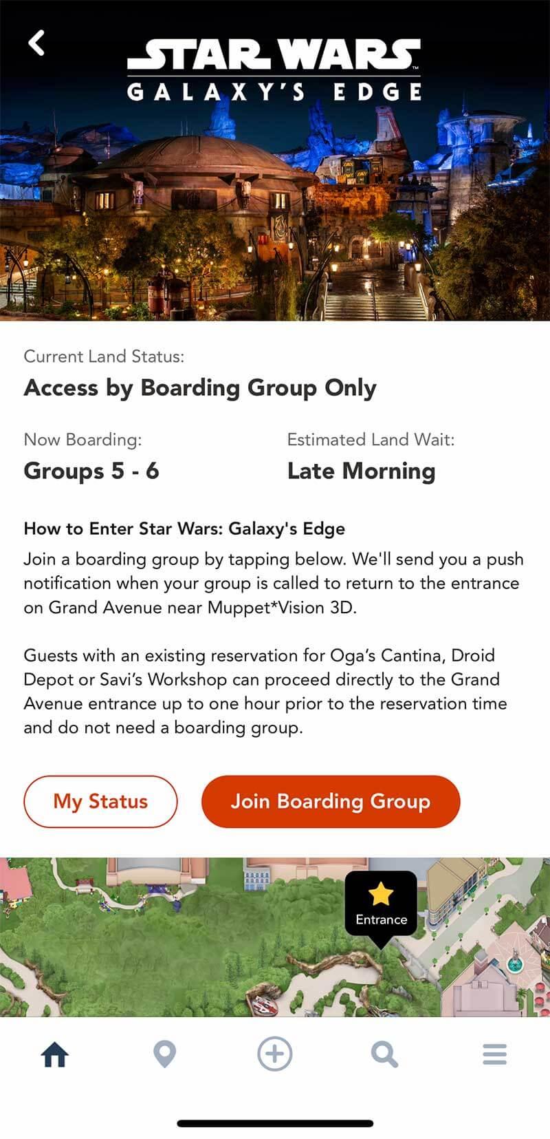 Star Wars: Galaxy's Edge Disney World - My Disney Experience Boarding Group