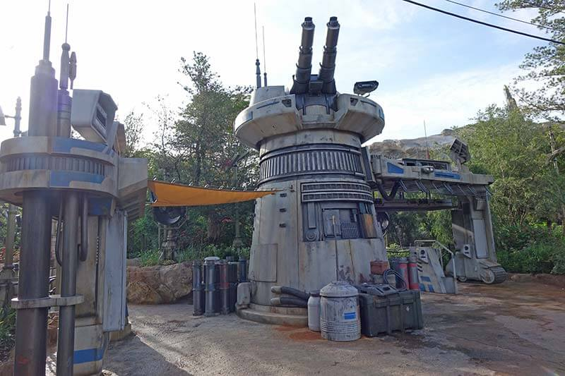 Star Wars: Galaxy's Edge at Disney World - Rise of the Resistance entrance