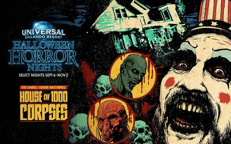 House of 1000 Corpses Maze Halloween Horror Nights