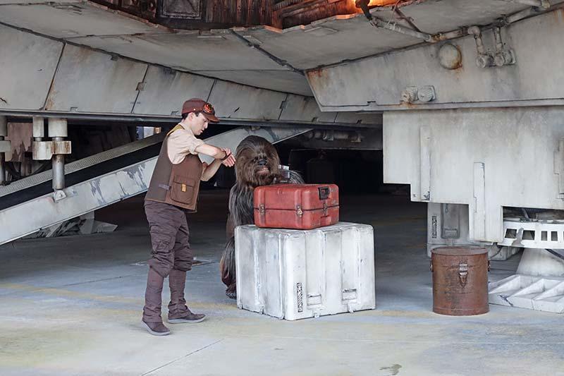 Star Wars Galaxy's Edge Disney World - Chewbacca in Hiding