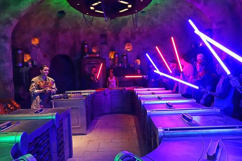 Using the Force to Build a Lightsaber Inside Savi's Workshop at Disney World