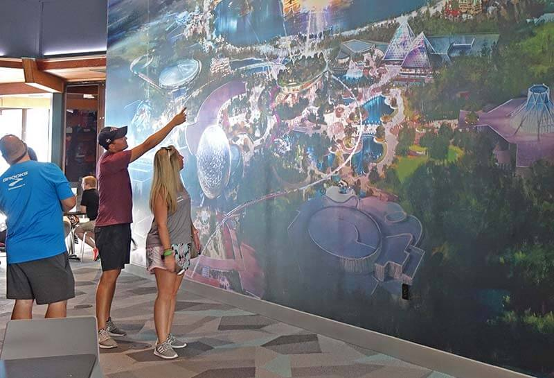 Epcot Changes - Guests at the Epcot Experience Center