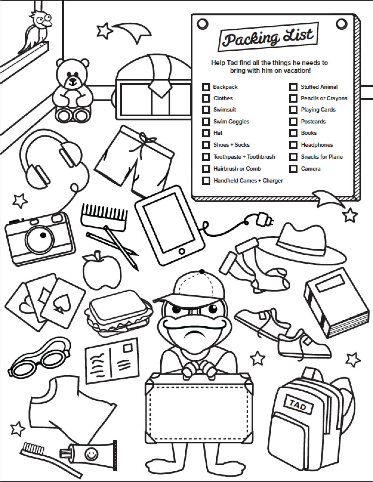 Disney World Holiday Crowds - Coloring Page