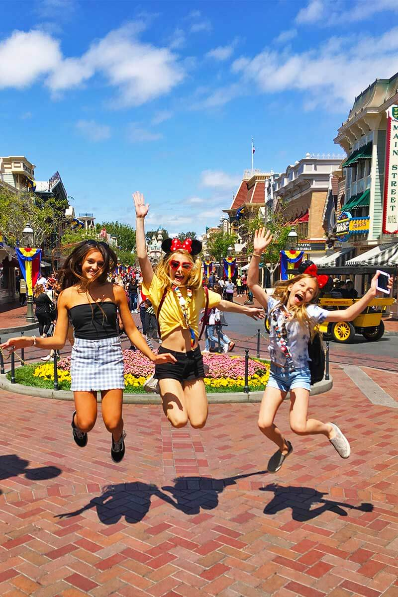 Tips for Going to Disneyland with Teens and Tweens - Jumping on Main Street