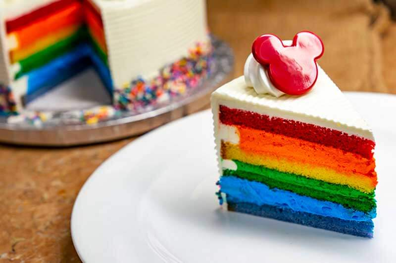 Everything You Need to Know for Disneyland Gay Days - Rainbow Cake