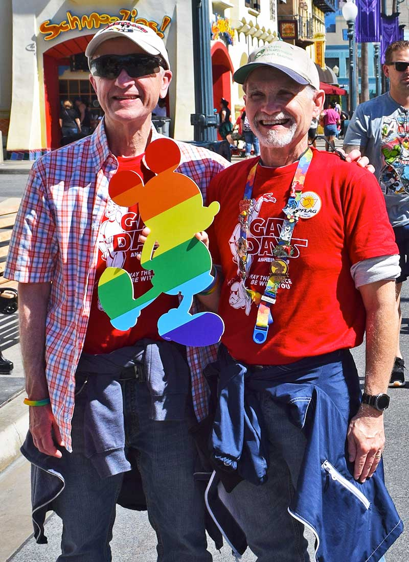 Everything You Need to Know for Disneyland Gay Days - Rainbow Mickey Prop