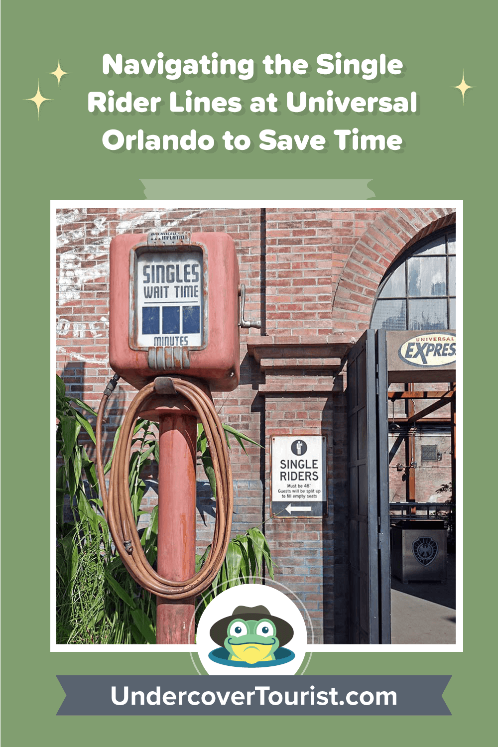 Single Rider Lines at Universal Orlando - Pinterest Image