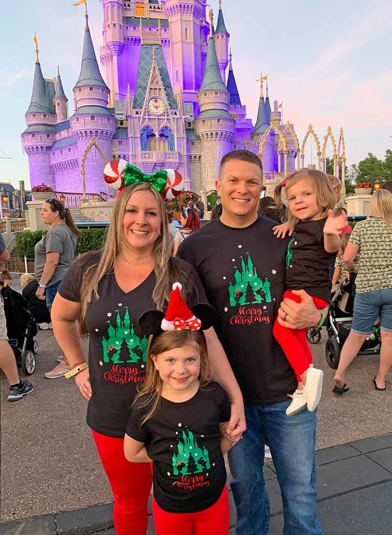Mickey's Very Merry Christmas Party - Family in Christmas Gear
