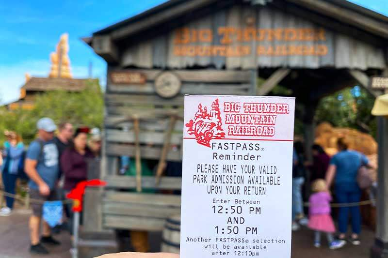 Guide to the Disneyland FASTPASS Service-Thunder Mountain