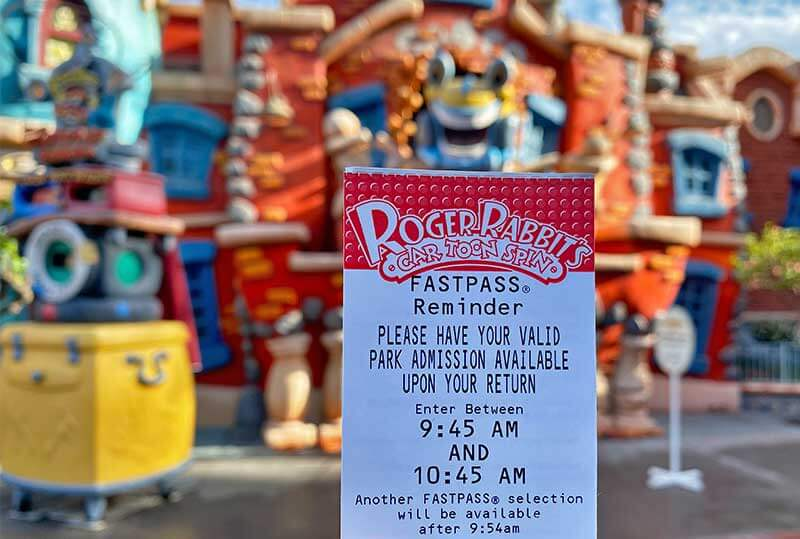 Guide to the Disneyland FASTPASS Service-Roger Rabbit