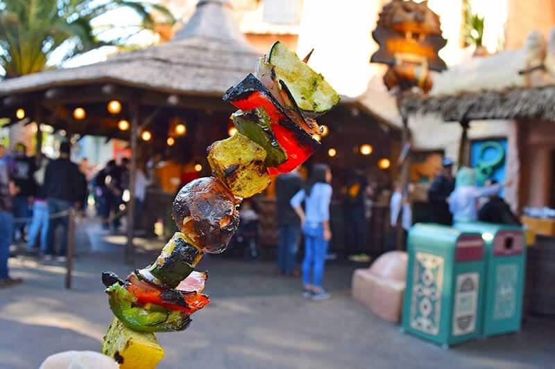The Very Best Vegetarian Food at Disneyland Resort - Skewer