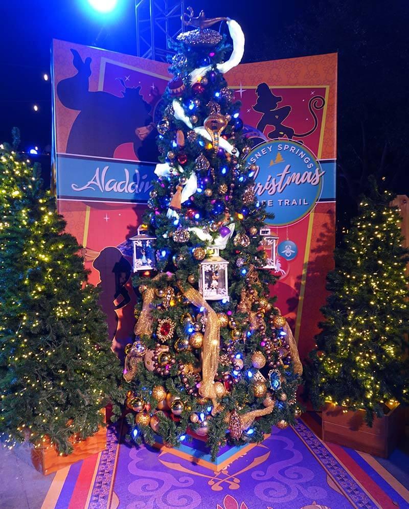 Disney Springs Christmas Tree Trail - Aladdin Tree