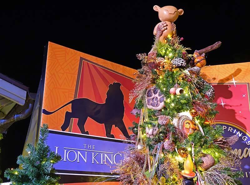 Disney Springs Christmas Tree Trail - The Lion King Tree