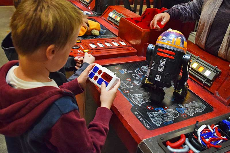 Building a Droid at Droid Depot in Disneyland