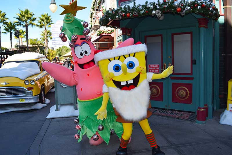 Guide to Christmas at Universal Studios Hollywood 2019 - Sponge Bob