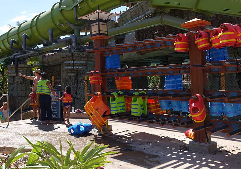 Universal's Volcano Bay Life Jackets - Water Park Safety for Kids and Adults with Autism