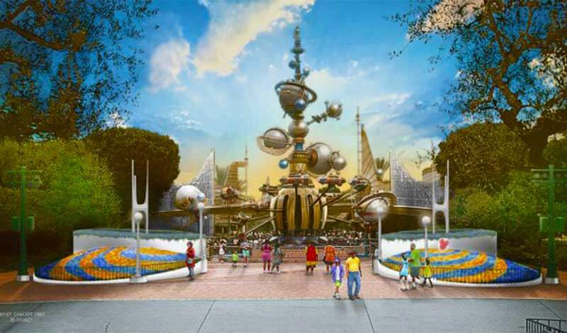 What's Coming to Disneyland and Universal in 2019 and Beyond-Tomorrowland entrance