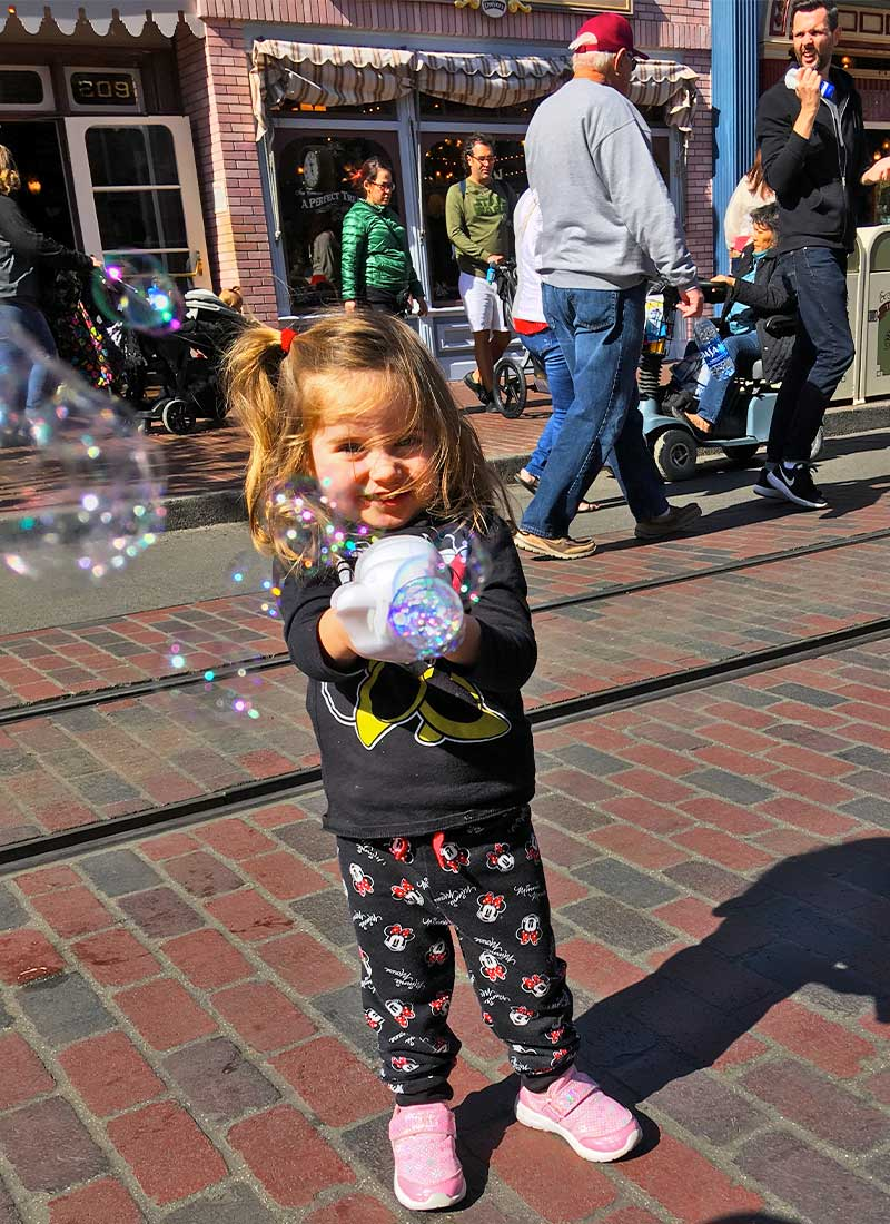 Mom's Secrets for Going to Disneyland with a Baby-Bubbles on Main Street