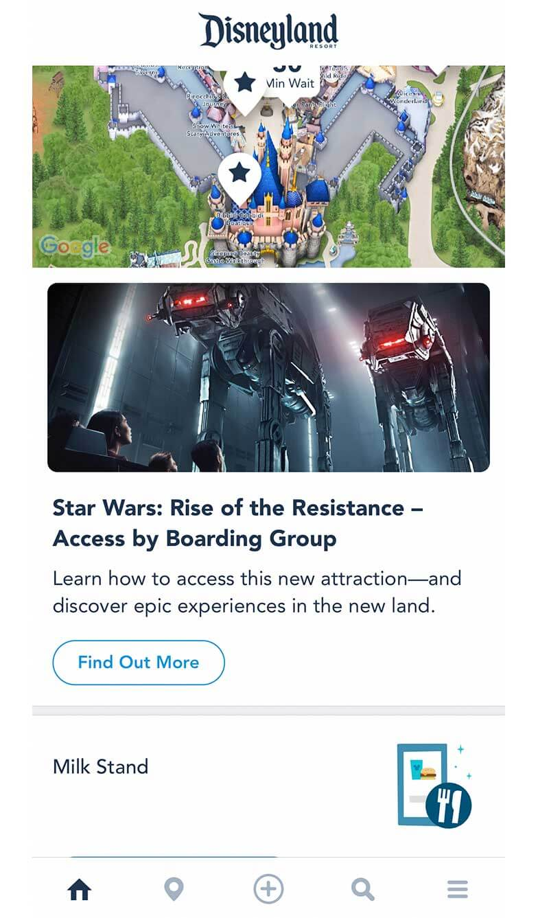 Our Galactic Guide to Star Wars: Galaxy's Edge at Disneyland - Home Screen
