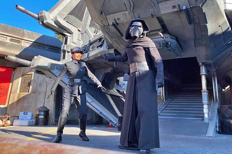 Our Galactic Guide to Star Wars: Galaxy's Edge at Disneyland-Kylo Ren on Stage