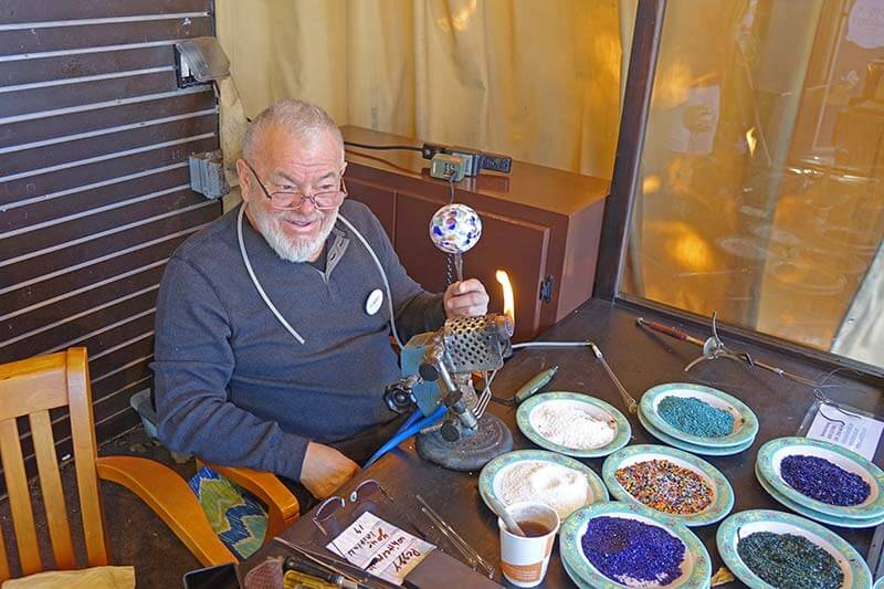 Epcot International Festival of the Holidays 2019 - Glassblower Reinhard Herzog