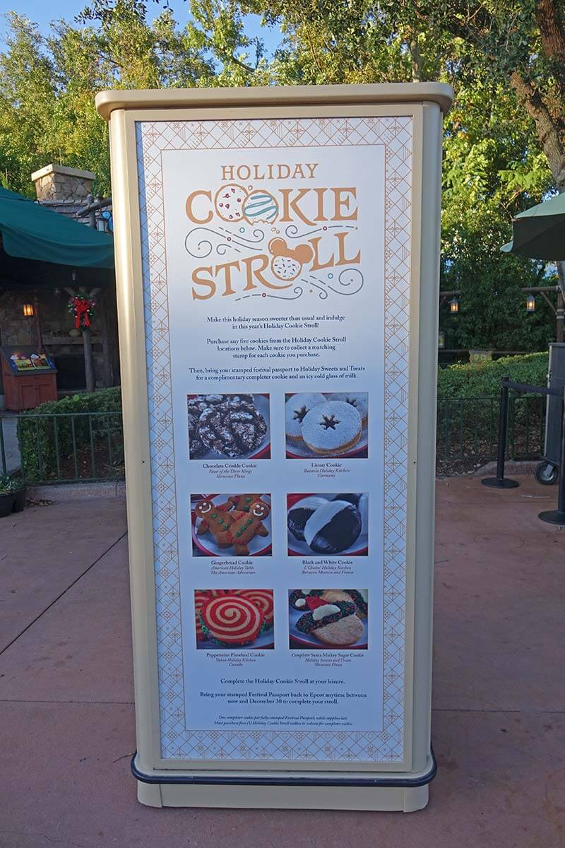 Epcot International Festival of the Holidays - Cookie Stroll