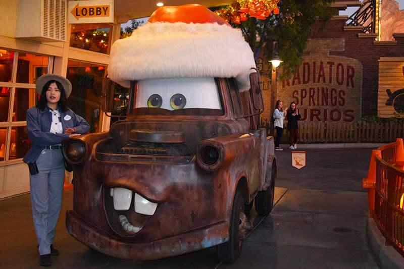 Disney's Festival of Holidays-Mater Santa hat