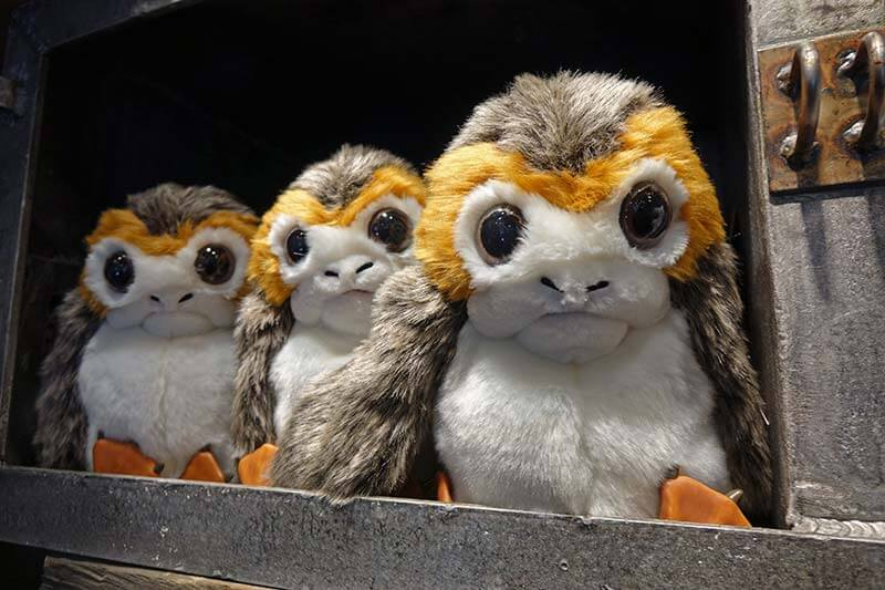 Star Wars: Galaxy's Edge at Disney World - Porgs in the Creatures Stall
