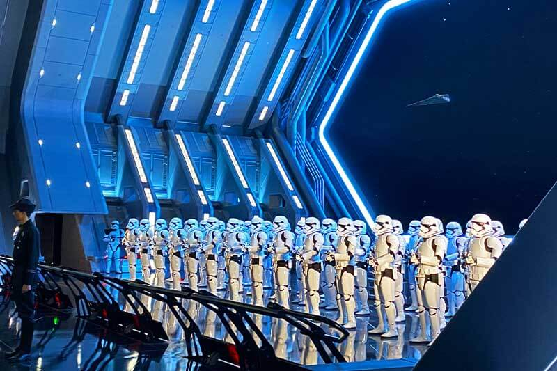 Our Galactic Guide to Star Wars: Galaxy's Edge at Disneyland - Stormtroopers on Rise of the Resistance