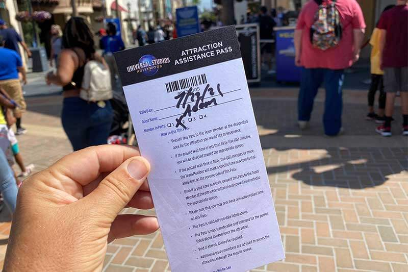 Overview of the Universal Studios Hollywood Attraction Assistance Pass