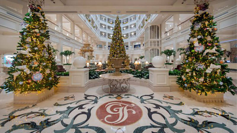 Peek Inside the Most Splendidly Decorated Disney Hotels at Christmas