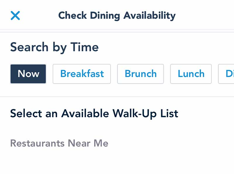 Walk-Up Availability at Disney World Restaurants Available 'Now' in My Disney Experience