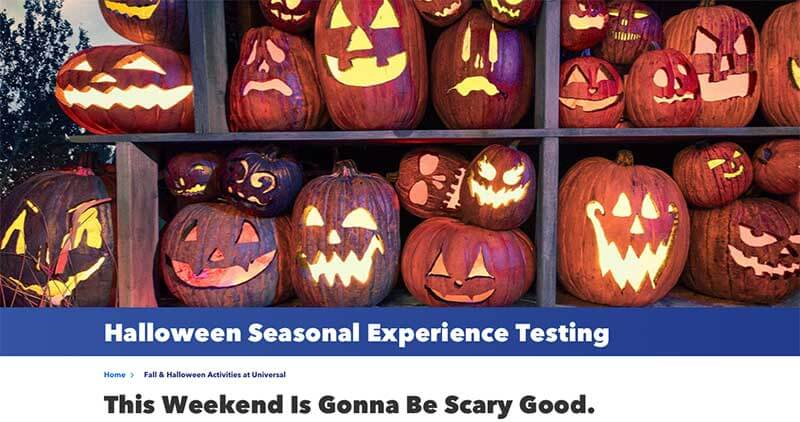 Universal Orlando Tests Halloween Event - Including All-Day Haunted Houses and Trick-or-Treating!