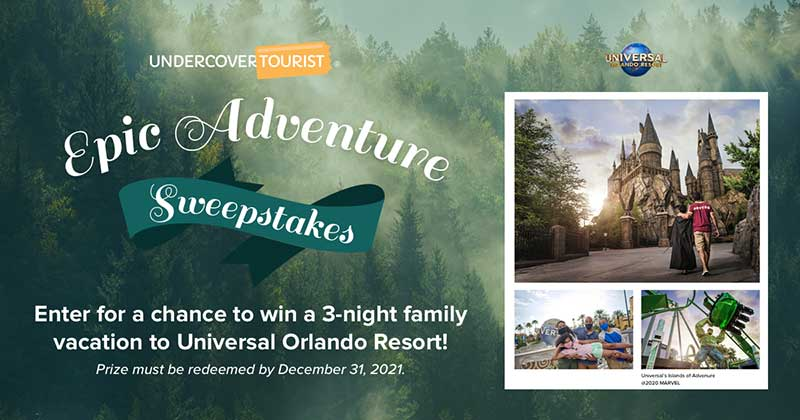 Undercover Tourist's 'Epic Adventure' Sweepstakes Terms and Conditions