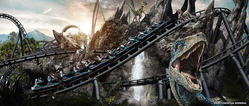 Jurassic World VelociCoaster Opening Summer 2021 at Universal's Islands of Adventure