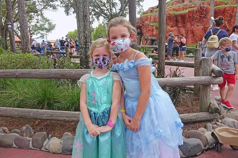 Princesses Wearing Masks at Walt Disney World