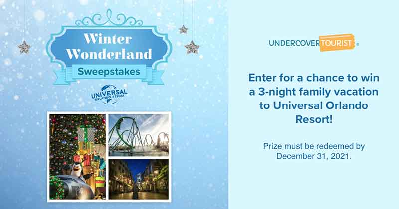Undercover Tourist's 'Winter Wonderland' Sweepstakes Terms and Conditions