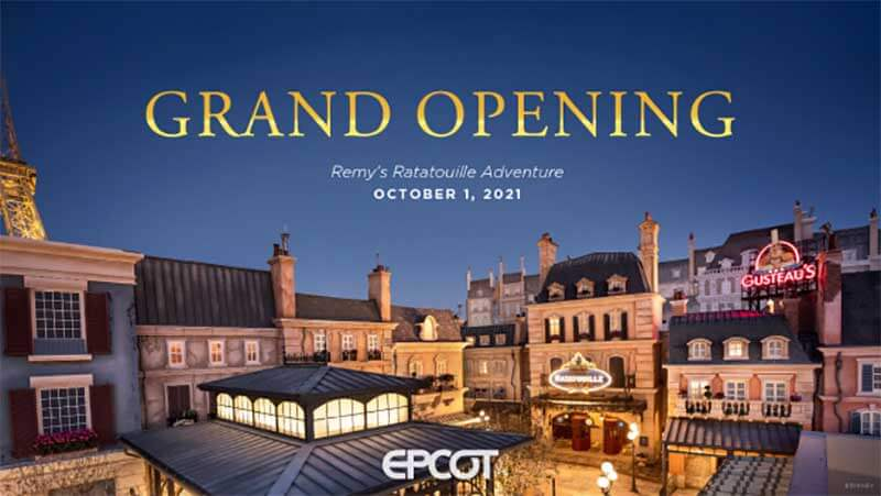 Remy's Ratatouille Adventure Will Open October 2021 — Here's What Else Is in Store for EPCOT!