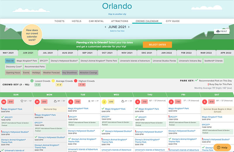 Calendrier Affluence Disney 2022 Best Time to Visit Disney World in 2021 and 2022