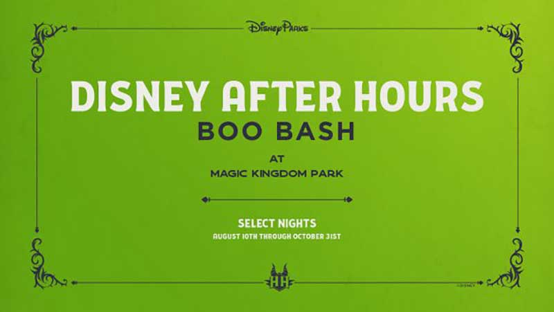 All-New Disney After Hours BOO BASH Event ~Leaping~ to Magic Kingdom Soon!