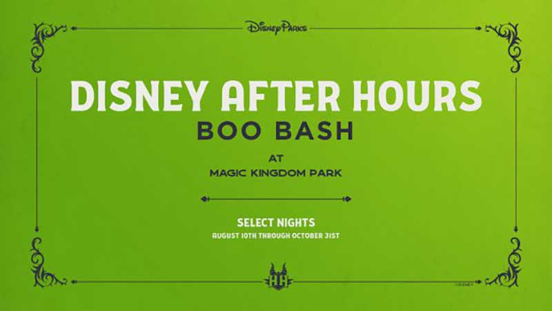 New Disney After Hours BOO BASH is Coming to Magic Kingdom Park This Fall!