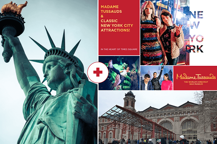 Madame Tussauds New York with Statue of Liberty and Ellis Island